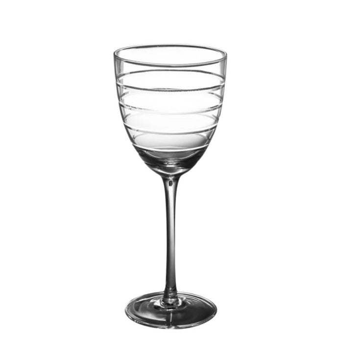 Abella Red Wine Glass with Etching (set of 2)
