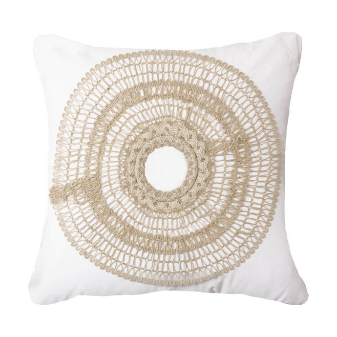 African Armour White Cushion