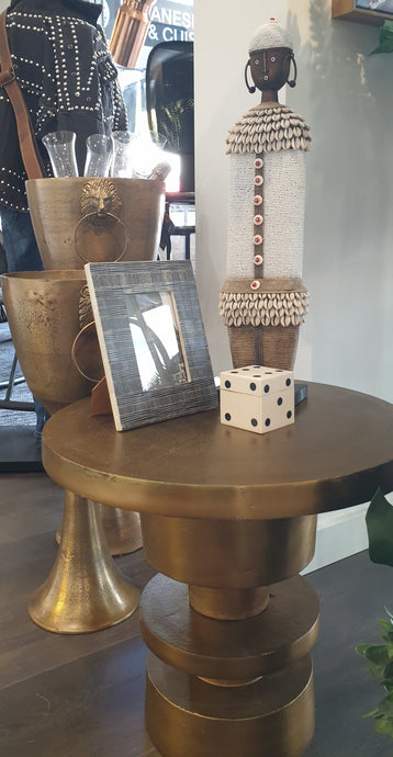 Gold Aluminium Side Table