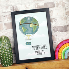 Load image into Gallery viewer, Adventure Awaits Inspirational Children's Print