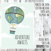 Load image into Gallery viewer, Adventure awaits balloon print