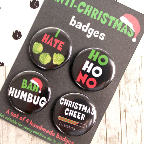 I hate Christmas Badges