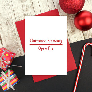 Chestnuts roasting Christmas card