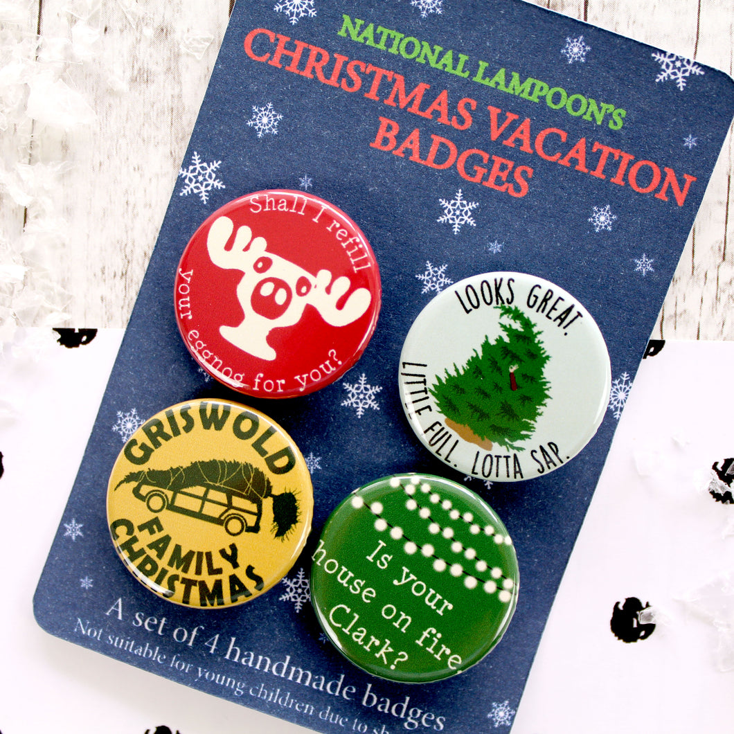 National Lampoon's Christmas Vacation Button Badges