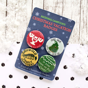 Christmas Vacation badges