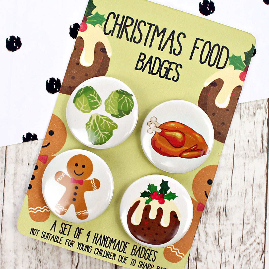 Christmas food badges
