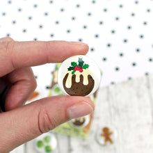 Load image into Gallery viewer, A Christmas pudding decorated with holly