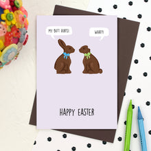 Load image into Gallery viewer, Chocolate Bunny Easter Card