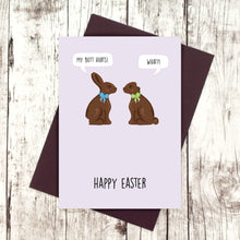Load image into Gallery viewer, Chocolate bunnies Easter card