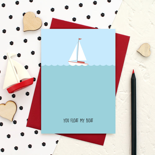You float my boat Valentine's Day card