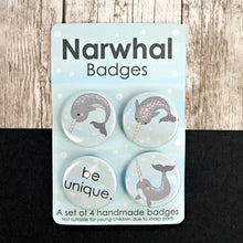 Load image into Gallery viewer, Narwhal badges
