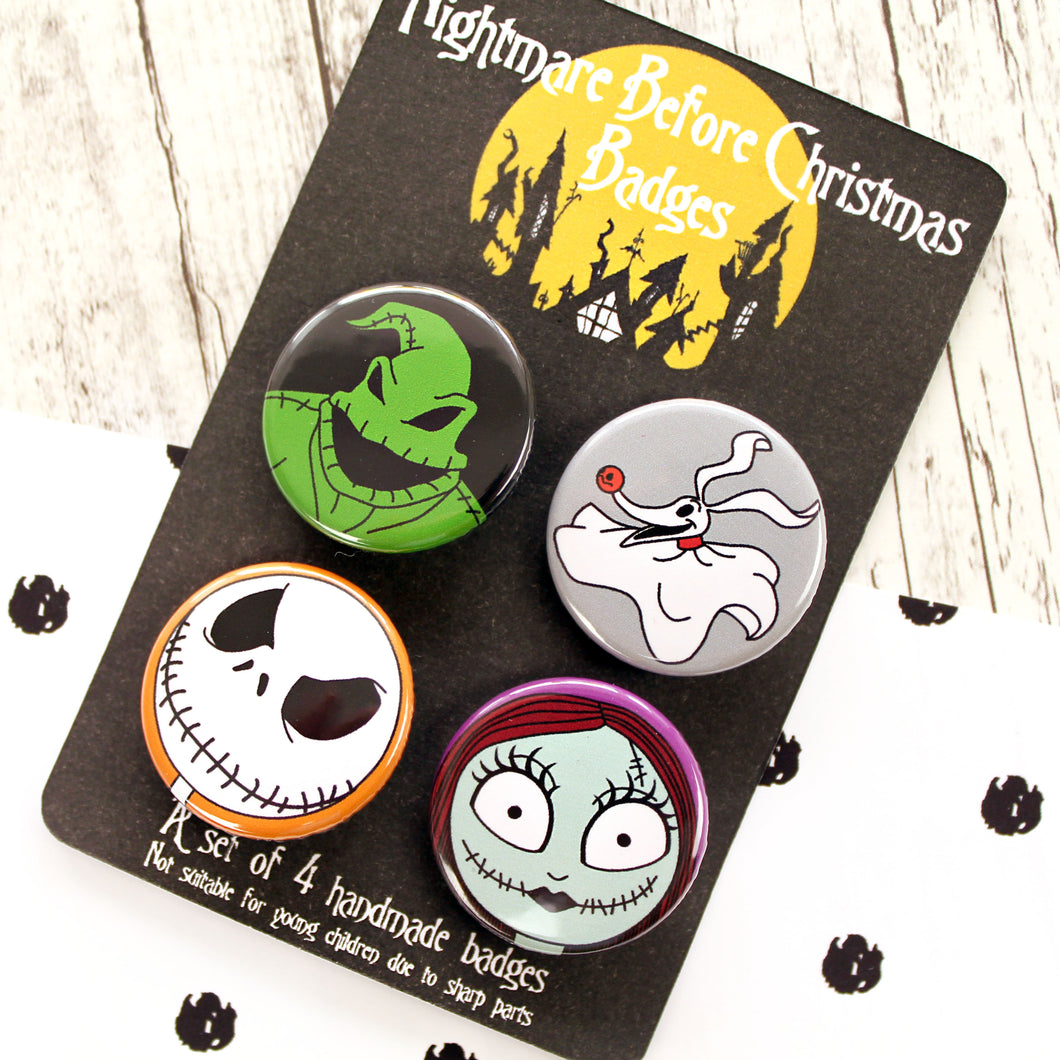Nightmare before Christmas badges