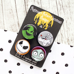 The Nightmare Before Christmas Button Badges