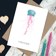 Load image into Gallery viewer, jellyfish valentine's day card