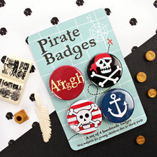 Load image into Gallery viewer, Fun Pirate badge set