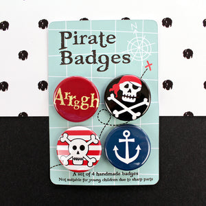 Pirate badges on map background
