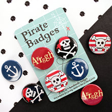 Load image into Gallery viewer, Set of pirate badges