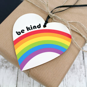Be kind heart as gift label
