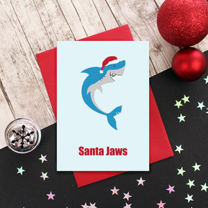Santa Jaws Christmas Card