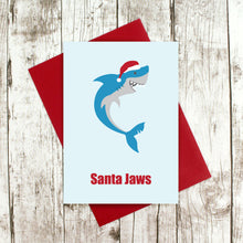 Load image into Gallery viewer, Shark Christmas card