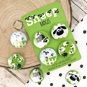 Black and White Sheep Pins
