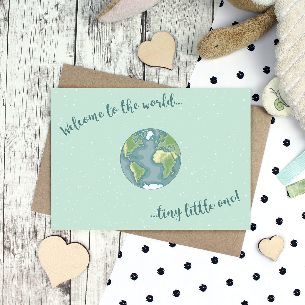 Welcome to the world tiny little one card