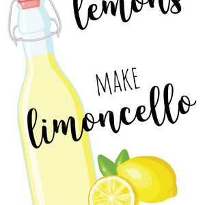 Close up of limoncello print