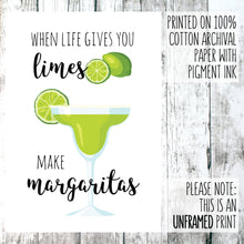 Load image into Gallery viewer, When life gives you limes wall out