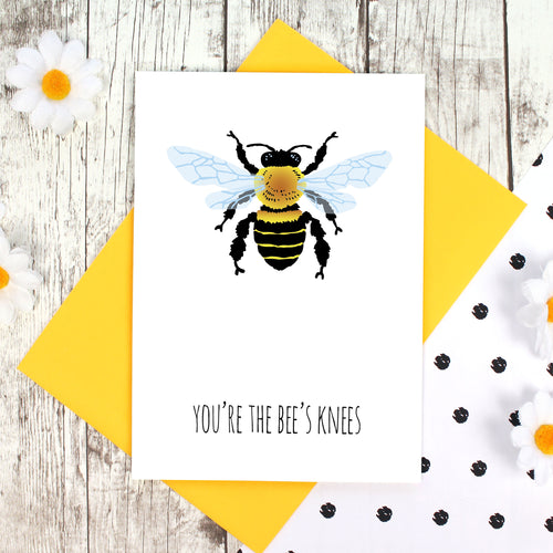 You're the bee's knees card with yellow envelope