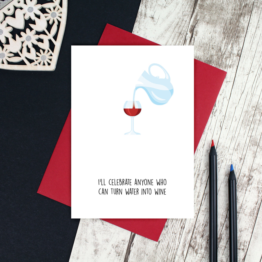 Water into Wine Easter Card