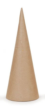 Paper Mache Open Bottom Cone 10.63 X 4 In - Package Of 12
