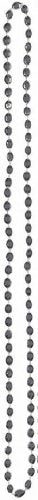 Party Perfect Team Spirit Metallic Bead Necklace Accessory, Black, Plastic , 30