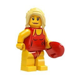 Lego Minifigure Series 2 Single Loose Minifigure Lifeguard