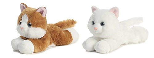 Bundle Of 2 Aurora Plush 8.5 Cats - Sugar Too And Sunshine Tabby