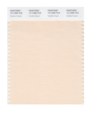 Pantone Smart 12-1009X Color Swatch Card, Vanilla Cream