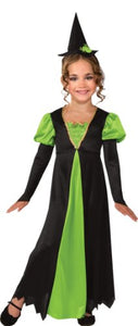 Witch Costume, Lime Green, Large