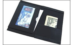 Magic Makers Leather Magician'S Mentalism Wallet - Mind Reading Magic Trick