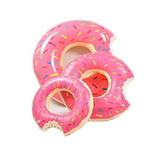 Load image into Gallery viewer, Woodbury Swim Rings Inflatable Donut Pool Ring Tube Kids Swim Party Toy Summer Lounge Raft Strawberry 80Cm