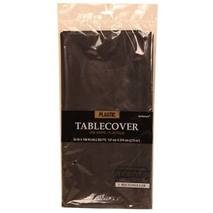 Jam Paper Rectangular Plastic Table Cover - Black - 54 X 108 In - Sold Individually