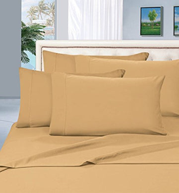 #1 Best Seller Luxury Pillowcases On Amazon! Highest Quality - Elegance Linen 1500 Thread Count Egyptian Quality Luxury Silky Soft Wrinkle-Resistant 2-Piece Pillowcases, King Size - Gold