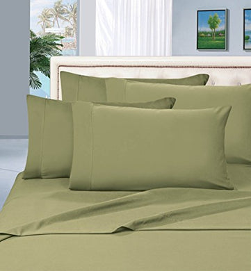 #1 Best Seller Luxury Pillowcases On Amazon! Highest Quality - Elegance Linen 1500 Thread Count Egyptian Quality Luxury Silky Soft Wrinkle-Resistant 2-Piece Pillowcases, Standard Size - Green