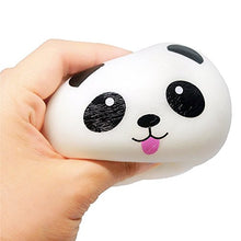 Load image into Gallery viewer, 4Pcs Mini Kawaii Cute Funny Panda Squishy Bread Charms Strap For Bag Cell Phone Car Keys Bun Toys Keychain