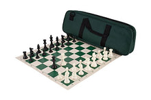 Load image into Gallery viewer, Deluxe Chess Set Combination - Triple Weighted - Forest Green - By Us Chess Federation