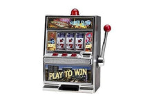 Load image into Gallery viewer, 12.5 Large Play To Win Slot Machine Figurine - Black & Aluminum