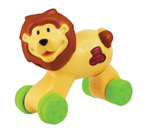 Press N Go Lion Musical Safari, Yellow/Brown