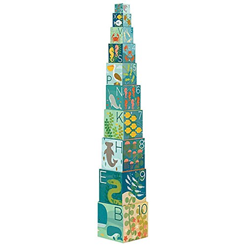 Petit Collage Nesting Blocks Ocean Abc