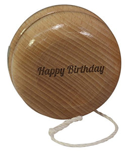 Classic Natural Wooden Yo-Yo With Two Sided Custom Laser Wood Engraving