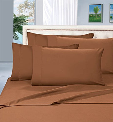 #1 Best Seller Luxury Pillowcases On Amazon! Highest Quality - Elegance Linen 1500 Thread Count Egyptian Quality Luxury Silky Soft Wrinkle-Resistant 2-Piece Pillowcases, Standard Size - Bronze