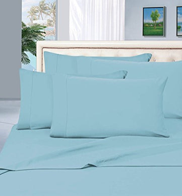 #1 Best Seller Luxury Pillowcases On Amazon! Highest Quality - Elegance Linen 1500 Thread Count Egyptian Quality Luxury Silky Soft Wrinkle-Resistant 2-Piece Pillowcases, King Size - Aqua