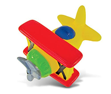 Puzzled Bi Plane Rubber Squirter Bath Buddy Bath Toy - Air Planes \ Aircrafts Collection - 3 Inch - Affordable Gift For Your Little One - Item #2788